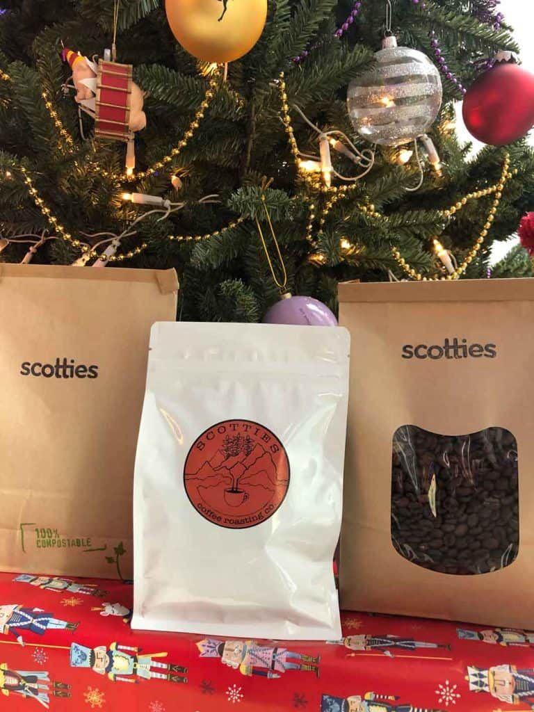 Scotties under the Christmas tree