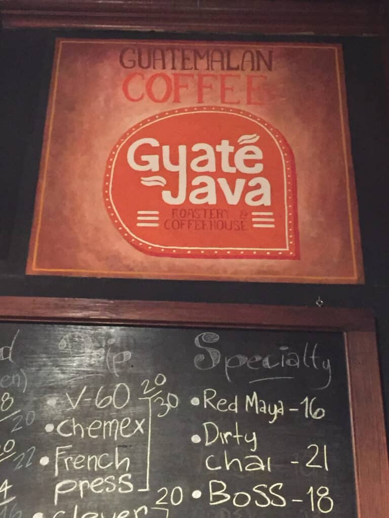Coffee shop in Guatemala